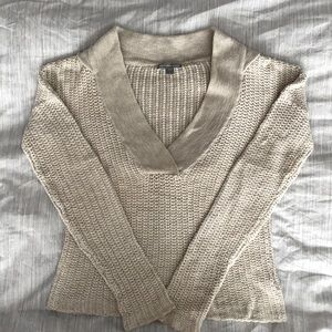 James Perse Cotton Knit Hoodie Sweater